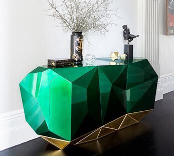 Diamond Esmerald Sideboard